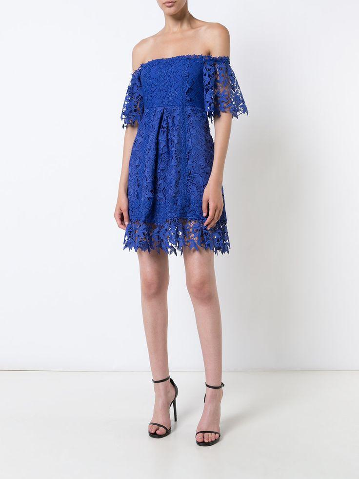 Nicole Miller Платье На Одно Плечо с Вышивкой - Farfetch