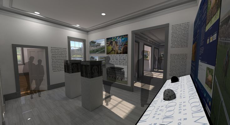 Artist's impression of the Museum at the Hunter Valley Horse Stud looking west