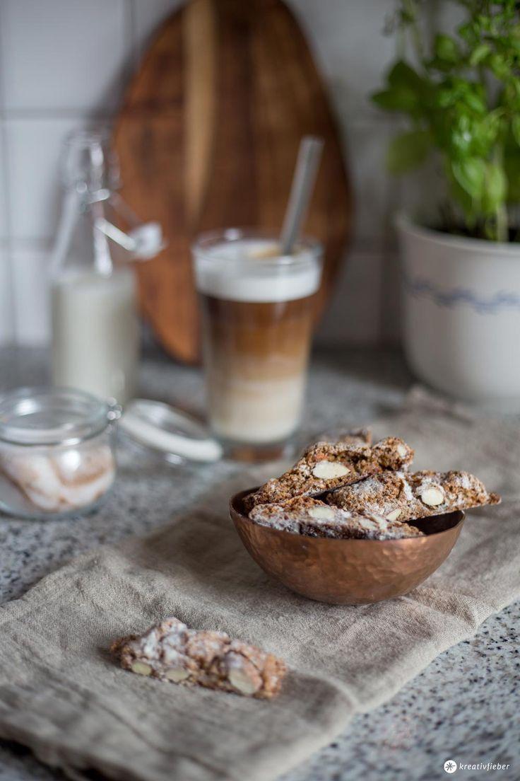 Kaffee Cantuccini Stangen Rezept - kleines Gebäck zum Kaffee selbermachen                                                                                                                                                                                 More