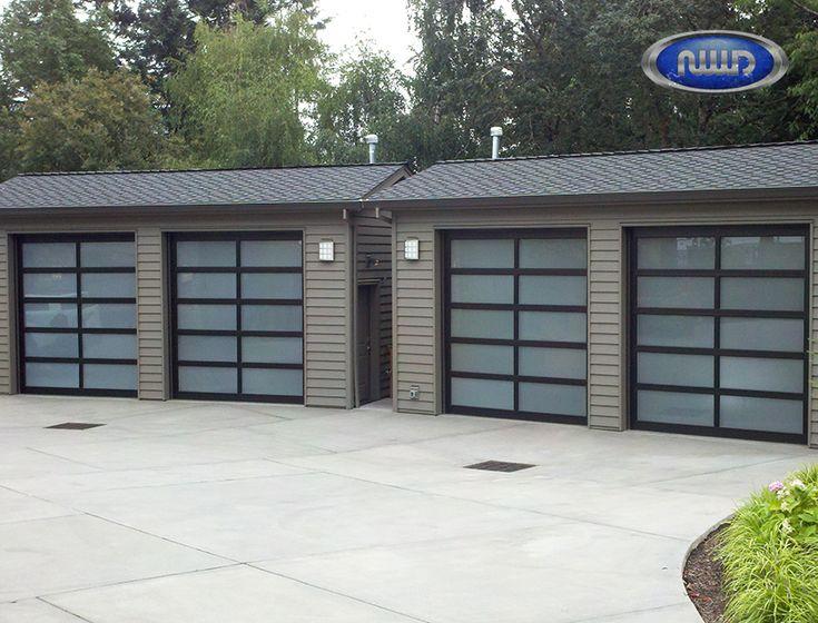 Modern Classic MC52  3 Dark Bronze Anodized Finish   White Laminated Glass    Garage Doors   Modern Classic   Modern Style Aluminum Garage Doors    Pinterest ...