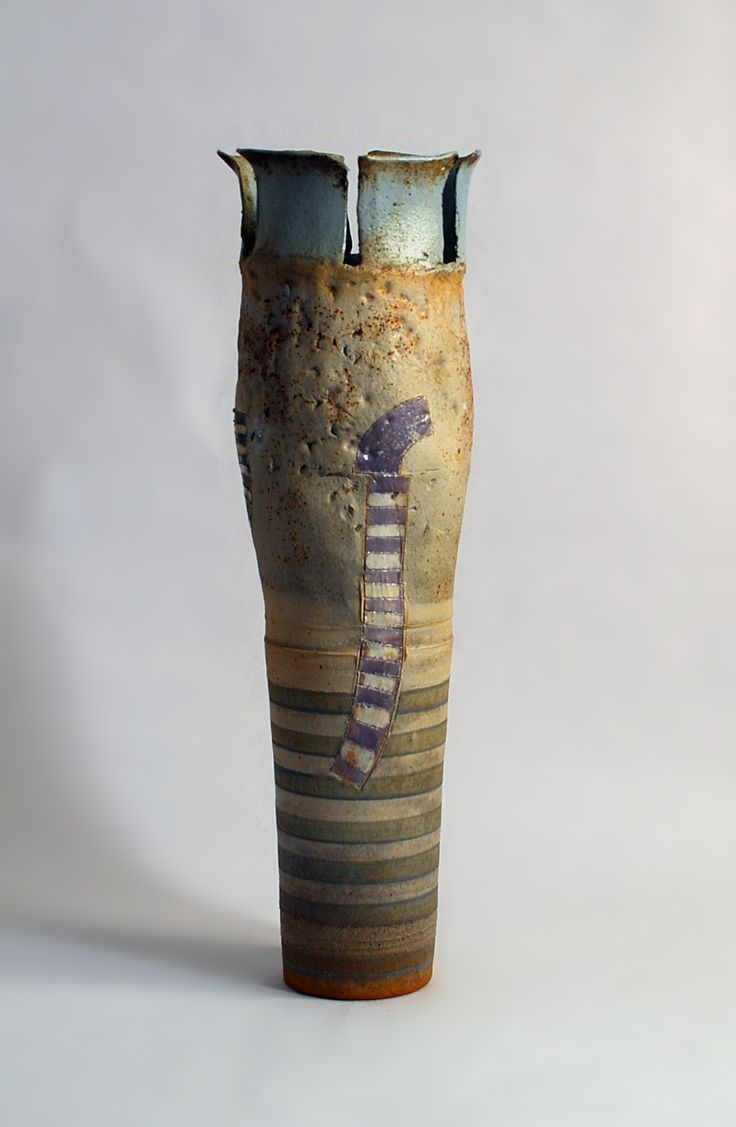 260 best ceramics vases open bottles images on pinterest robin welch unique stoneware large vase with hand applied illustration and segmented top reviewsmspy