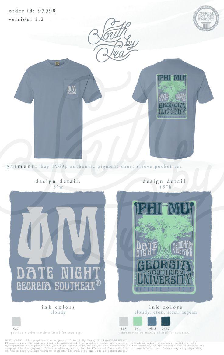 Phi Mu | Date Night | Date Dash | Social Tee Shirt Design | South by Sea | Sorority Shirts | Sorority Tanks | Greek Shirts | TShirt Ideas | Tee Shirt Ideas