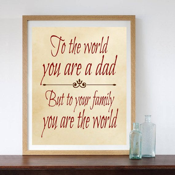 Gift for Dad Father Gift from Children Gift for by LilPeasPrints