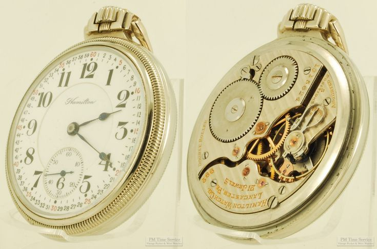 We've added ten vintage & antique items today; among them is this railroad-grade Hamilton pocket watch, c.1918-1919, with a 16-size, 21-jewel grade 992 movement, double-sunk Montgomery-style dial, and a Keystone white gold (filled) engraved case.  View all of these newly-listed items at our eBay store this week: http://stores.ebay.com/PM-Time-Service/_i.html?rt=nc&LH_Auction=1