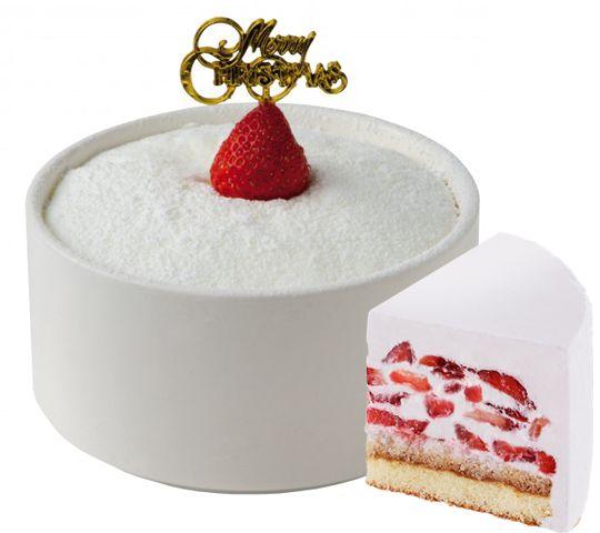 かき氷がXmasケーキにふわふわスポンジとミルクかき氷の出会いいちごケーキソルビン誕生