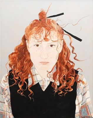 Cressida Campbell - self-portrait 1983