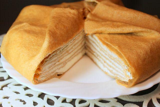 блинный торт с сыром рикотта
