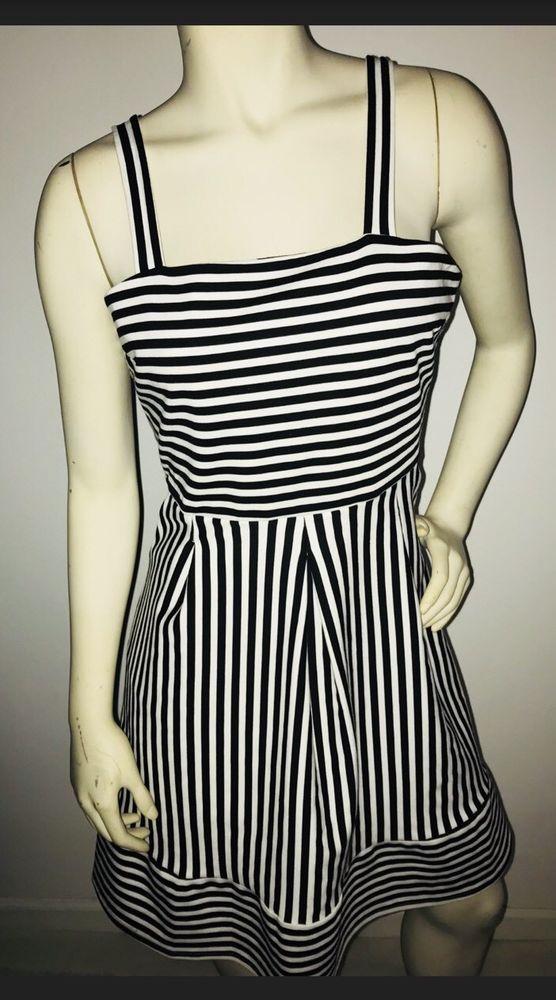 4b87ff39716 Women s Brixon Ivy Levi Ponte Dress Black white striped Midi Stitch Fix  Large