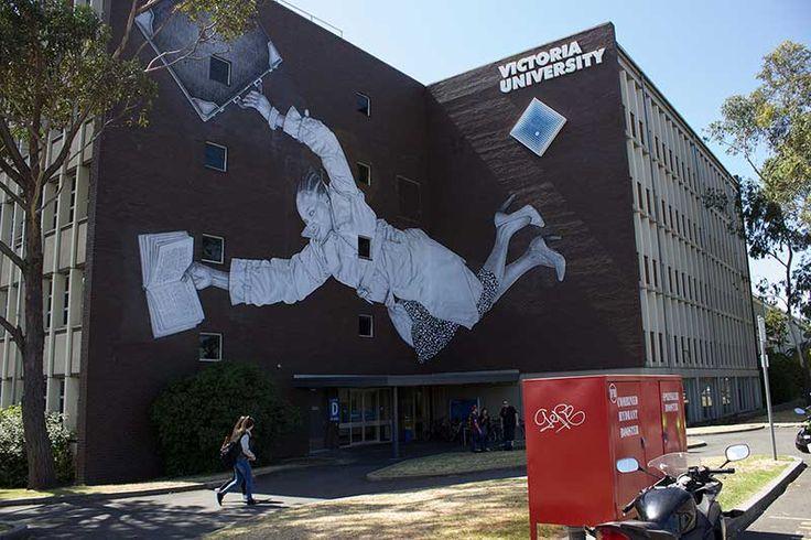 BABY GUERILLA  .. for Victoria University ..  [Melbourne, Australia 2014] (mural II)