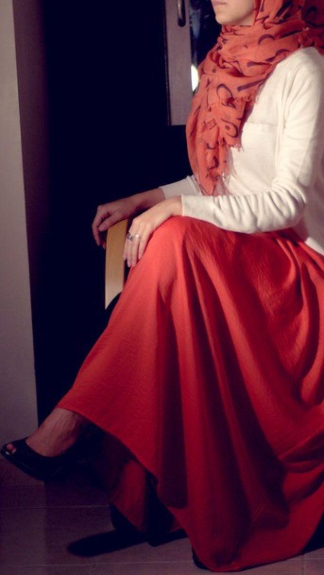 Maxi Skirts Arabic Calligraphy Hijab Fashion Maxi Skirt