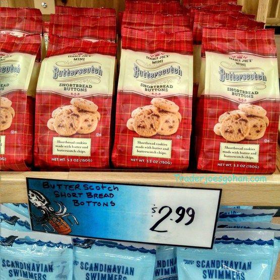 Trader Joe's Butterscotch Shortbread Buttons 5.30z/150g $2.99 トレーダージョーズ バタースコッチショートブレッドボタン