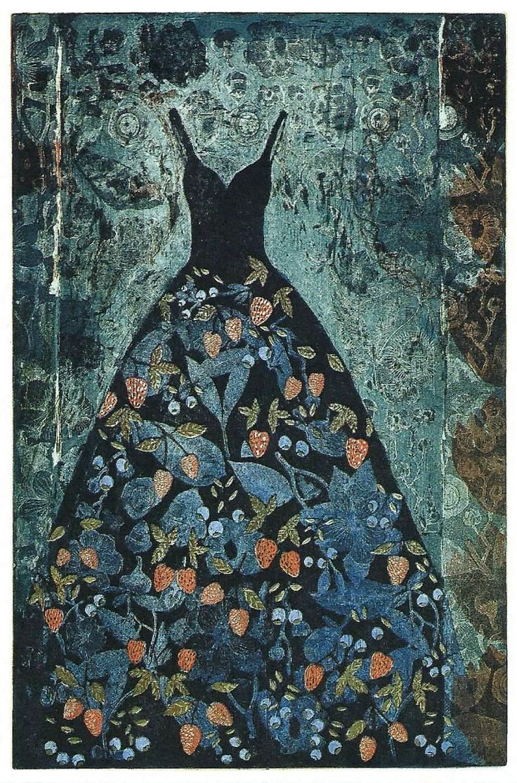 Kirsi Neuvonen, Dronningholmpuku, 1994, 90x60 cm. etsaus, akvatinta, kopiosyövytys