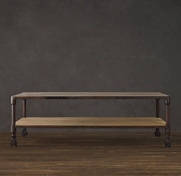 Love coffee table from restoration hardware home pinterest coffee tables industrial Restoration coffee tables