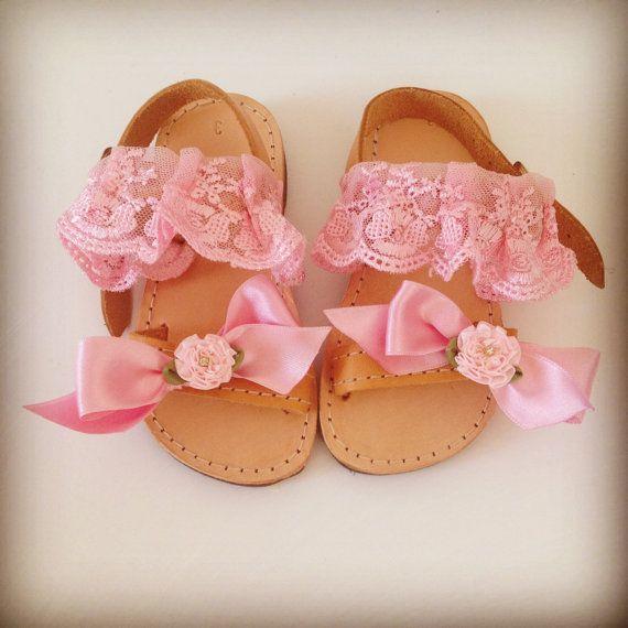 Pink baby sandals