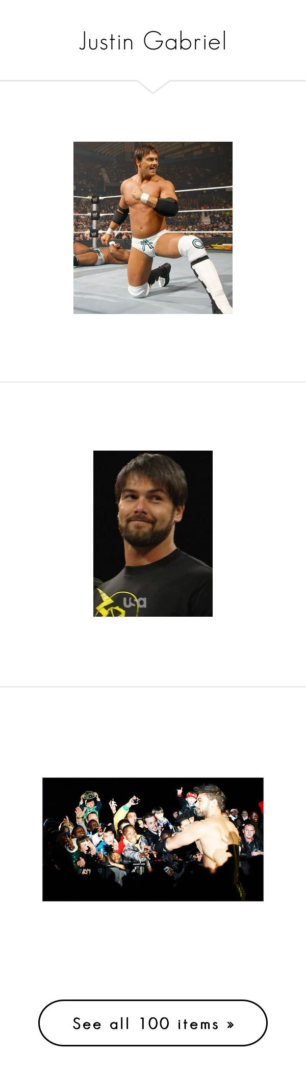 """Justin Gabriel"" by amanda-marie-shaddix ❤ liked on Polyvore featuring justin gabriel, pictures, wwe and wrestling"