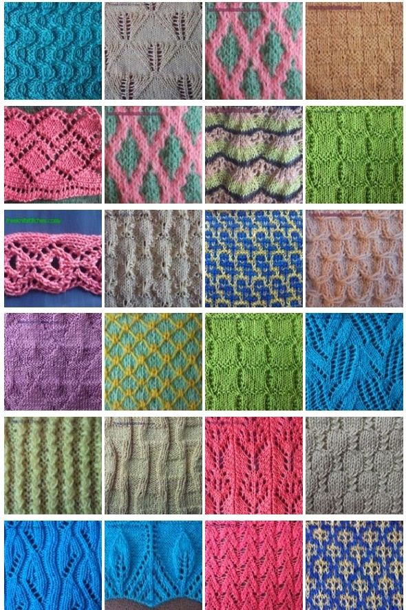 Tons of free stitches at freeknitstitches.com