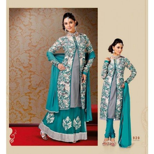 Indian Bollywood Designer Trendy Fancy Dashing Anarkali Salwar Suit MJ 522 16753