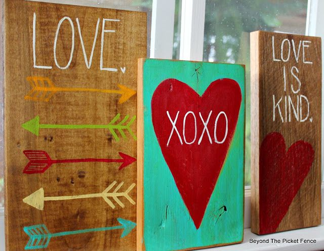 Simple Hand Painted Signs on Reclaimed Wood