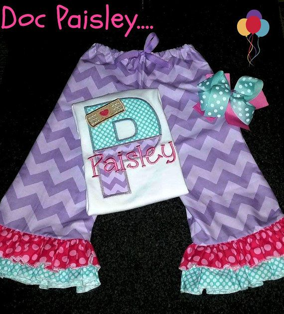 Doc McStuffins Letter Outfit by CherryBarnOriginals on Etsy