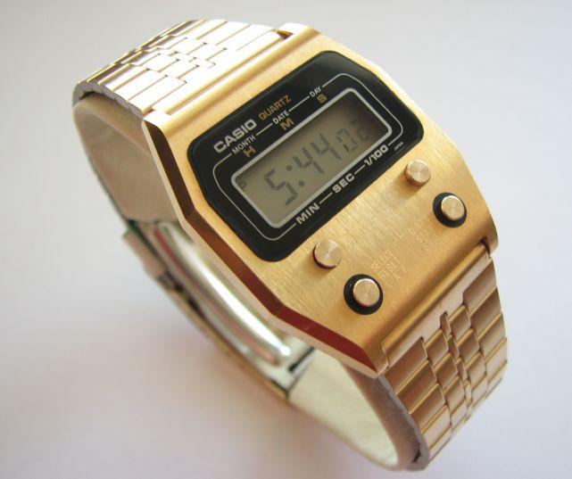 Gold Vintage Casio Watches