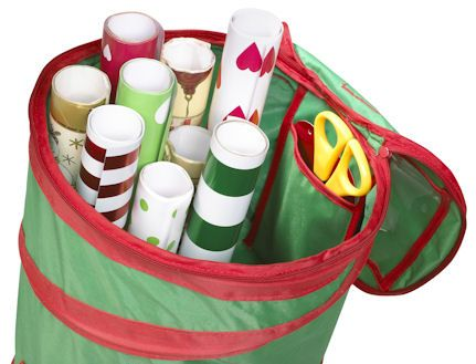 Pop-Up Gift Wrap Storage Bag