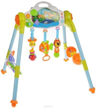 """Huile Toys Развивающий музыкальный центр 3 в 1  — 6504р. ------- Красочный мультифункциональный развивающий центр Huile Toys """"3 в 1"""" будет стимулировать не только сенсорное восприятие малыша, но и его физическую активность. Игровой центр можно использовать сидя, стоя или лежа. Кроху непременно заинтересуют различные режимы подсветки панели. В дневном режиме солнышко встает над горизонтом, и малыш сможет играть с обитателями дневного леса. В ночном режиме на небе светит луна и звезды, а озеро…"""