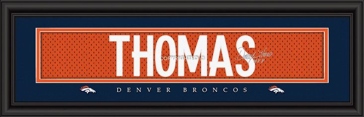 "Denver Broncos Demaryius Thomas Print - Signature 8""x24"""