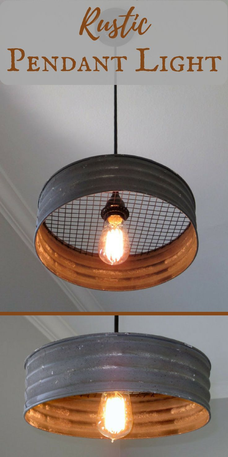 Gorgeous! This rustic light would be the perfect addition to my farmhouse decor. #rustickitchen #ad #farmhousekitchen #industrialdecor