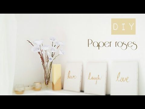 DIY Paper Flowers   How to make a paper rose - YouTube