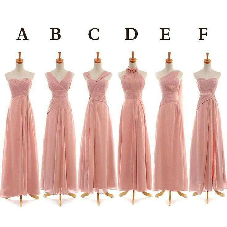 Custom Bridesmaid Dress Via Etsy Would Be Nice For If You D Like Them To Have Whichever Neckline Feels Best While Still Having The Same