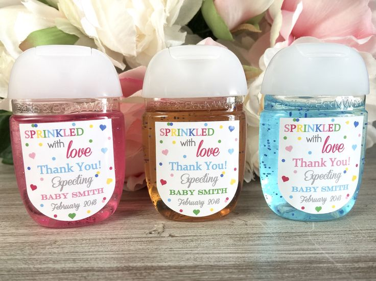 Sprinkled With Love Baby Shower Favor, Baby Sprinkle Favor Label, Hand  Sanitizer Favor,