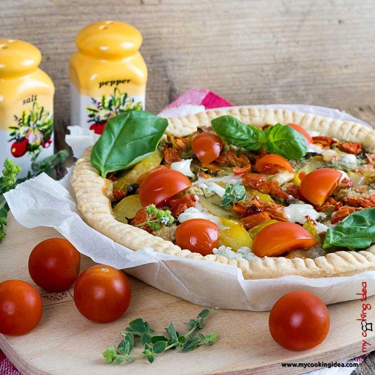 Torta salata con patate e gorgonzola. QUI  LA RICETTA  http://www.mycookingidea.com/2012/05/torta-con-patate-e-gorgonzola/