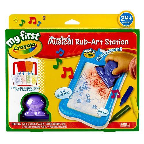 Toys R Us Crafts : Crayola my first washable musical rub art station