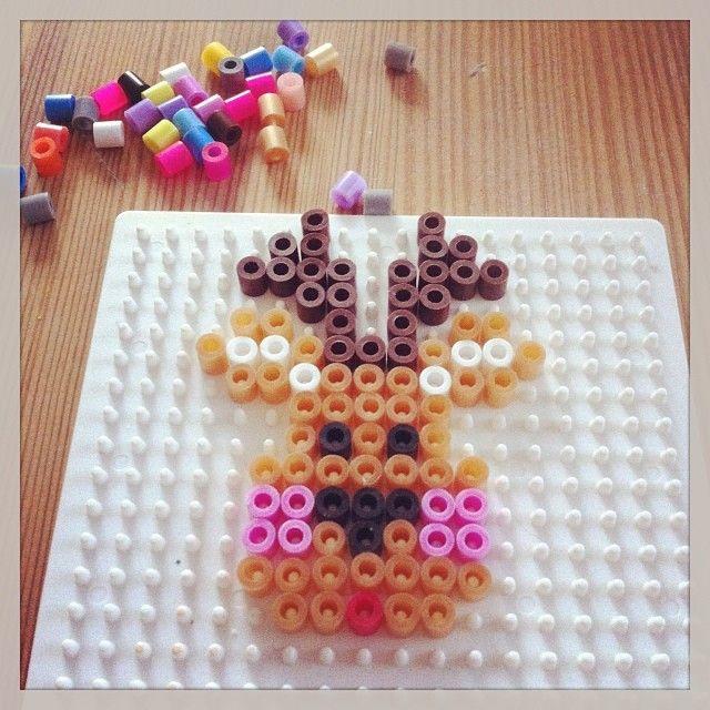 Christmas reindeer ornament hama beads by sweetmommi