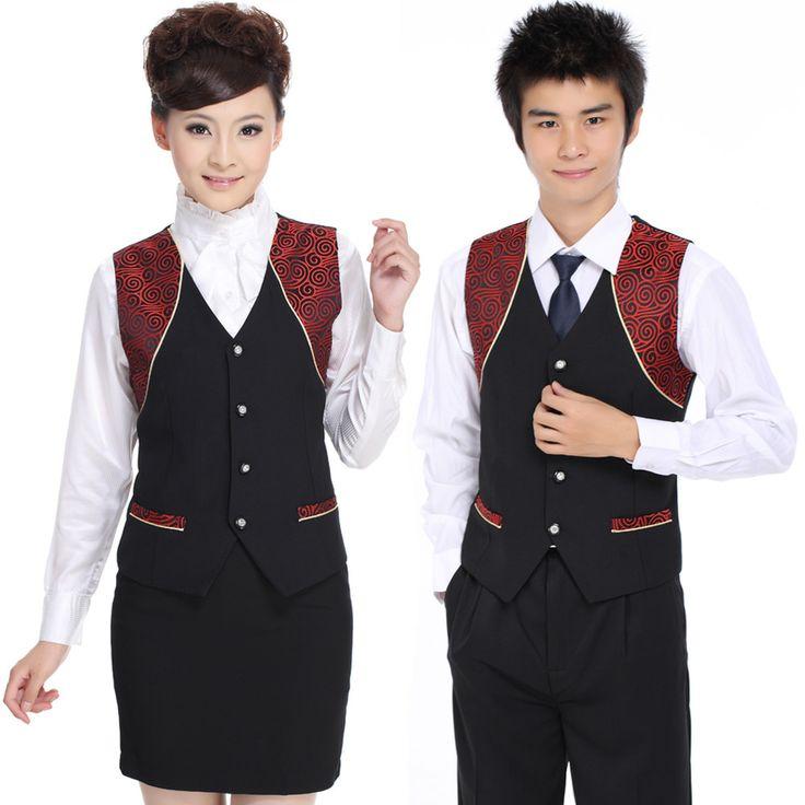 High quality hot sale uniforms for waiters waitress $6.30~$10.30