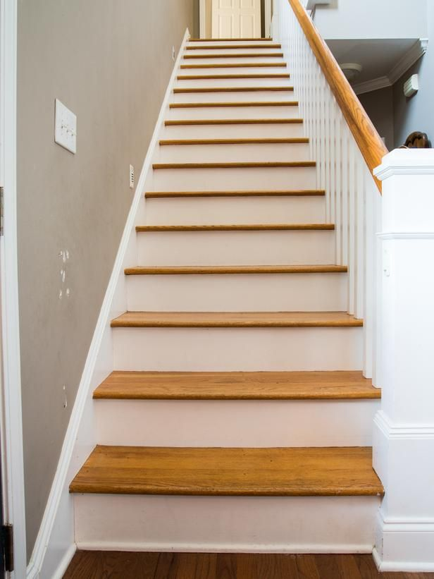 How To Step Up Your Stair Risers With Wallpaper Grey