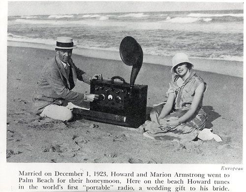 Edwin H. Armstrong, major contributor to the superheterodyne receiver and FM radio.