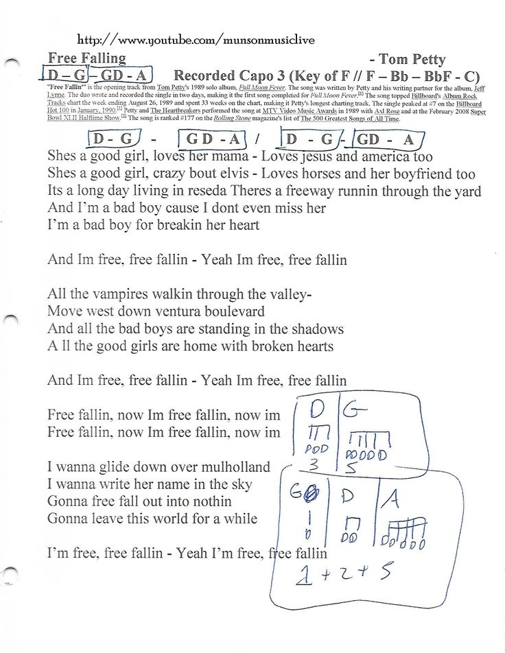 Free Fallin Chords By Tom Petty Your Guitar Success - akross.info