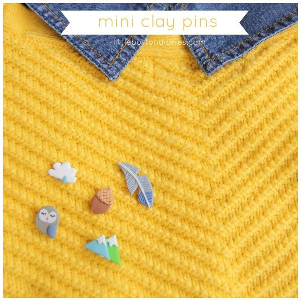mini clay collar pins tutorial by little button diaries
