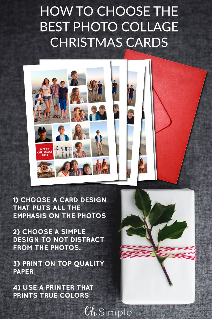 How to choose the best photo collage Christmas Cards | Photo Holiday ...