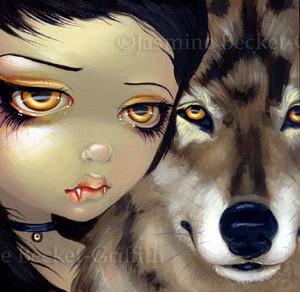 Fairy Face 115 Jasmine Becket-Griffith Art Fantasy Wolf Vampire