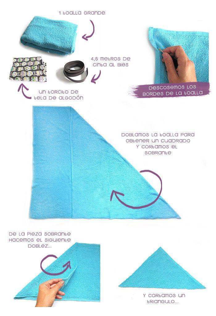 Cómo hacer una capa de baño para bebé -DIY-