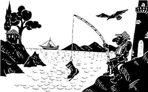 Συνέχιζε ατάραχος το ψάρεμα