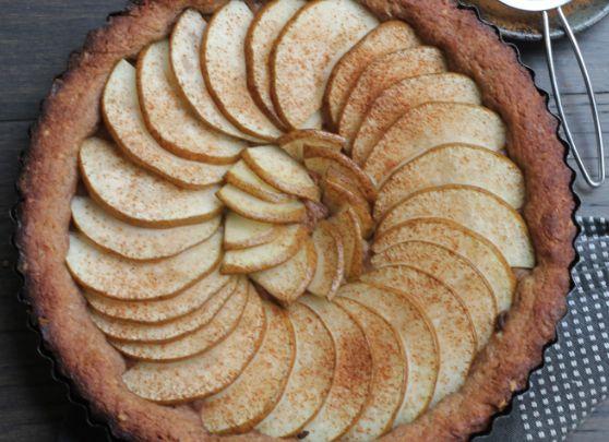 Pear and Walnut Tart