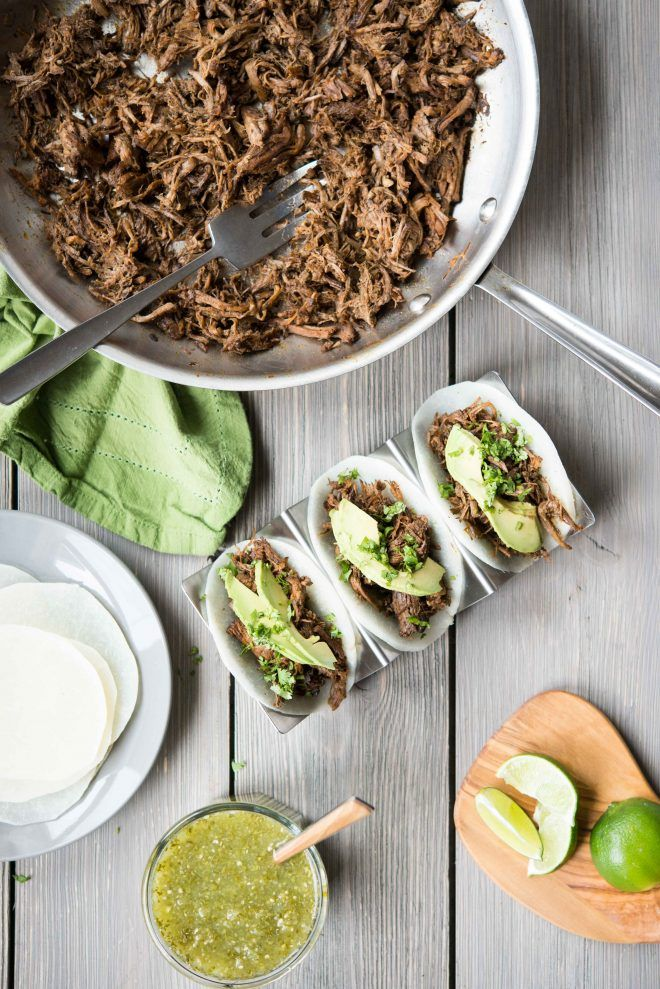 Fed & FitSlow Cooker Barbacoa with Jicama Tortillas - Fed & Fit