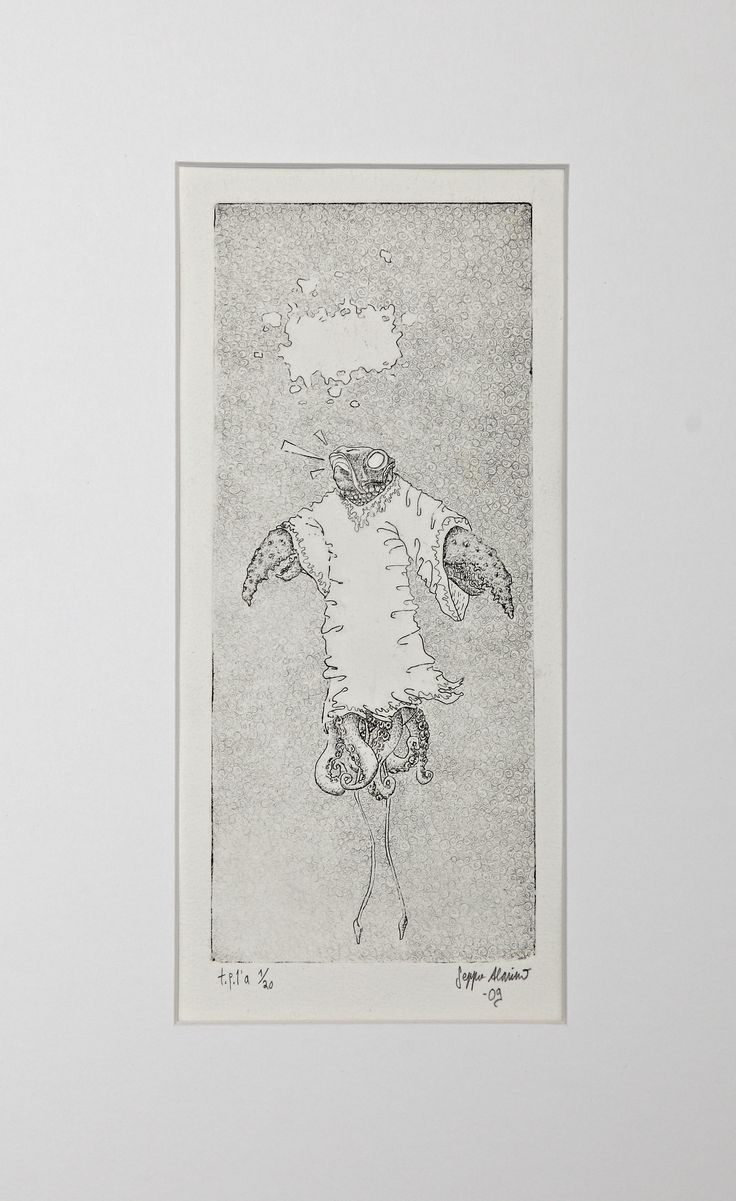Seppo Alanissi - The Priest, 2009, etching
