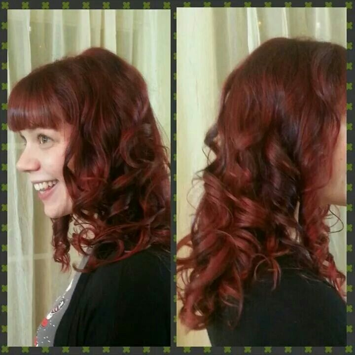 Revived Red and saucy bang by Katie
