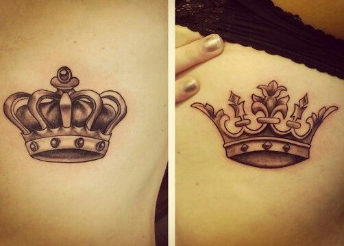 Our king and queen tattoo!