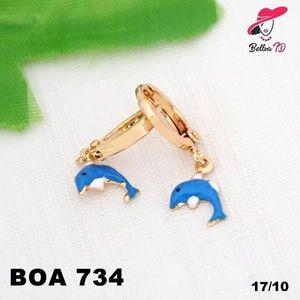Jual Anting Xuping Anak Dolphin Gold Lapis Emas OA 734 - Bellva ID | Tokopedia  Perhiasan Xuping Lapis Emas 18k, Awet dan Tahan Lama, pancaran kilau cantik . Tampil cantik dengan keunikan pilihan model dan warna sesui hati anda  Fast Respon Pin BBM : D5B0B9AB  WA/SMS/Telp : 081546577219  bahan dasar tembaga (bukan besi). dilapisi RODHIUM yang biasanya digunakan untuk melapisi emas di toko-toko emas 18k.Permata Zircon, Bisa di sepuh ulang dan anti alergi.