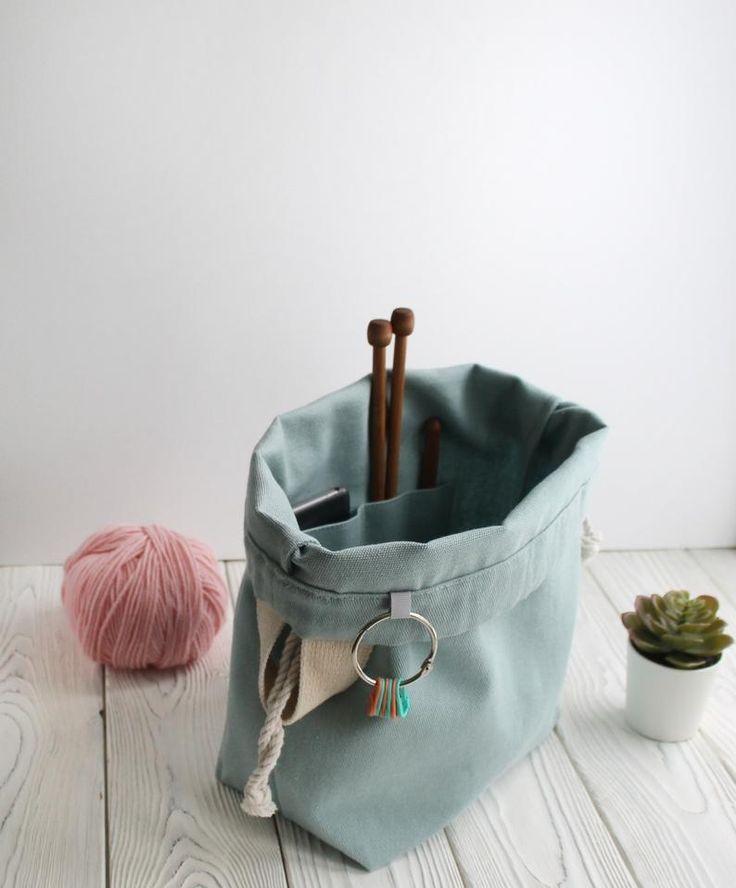 fabric knitting bag